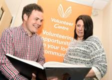 Paying the Living Wage: Ben Barley, Chief Executive of Voluntary Centre Services, with a member of staff