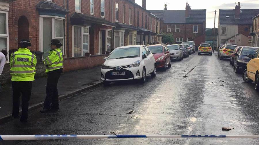 Police taped off Vernon Street off Lincoln High Street. Photo: Sarah Barker for The Lincolnite