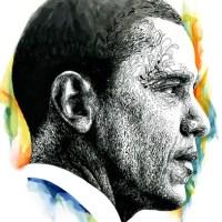 Nathan Manire - Barack Obama original portrait
