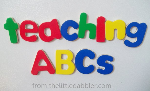 Teaching the ABCs to Toddlers: 7 Simple Steps from thelittledabbler.com