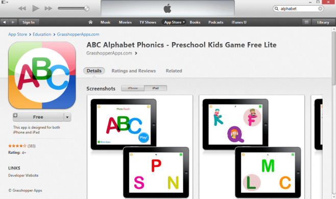 ABC Alphabet Phonics iPad App