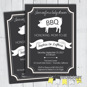 Baby Shower BBQ Invitation from TheLittleDabbler