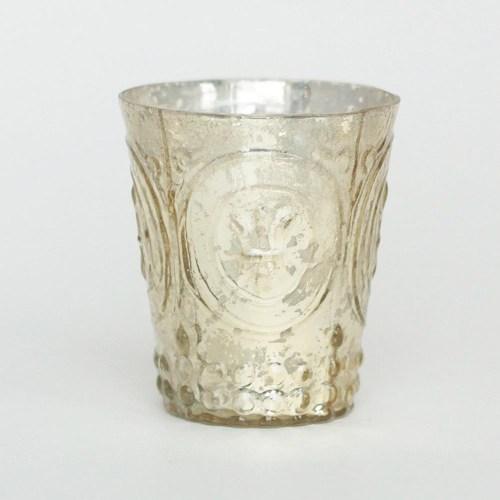 Medium Of Mercury Glass Votives