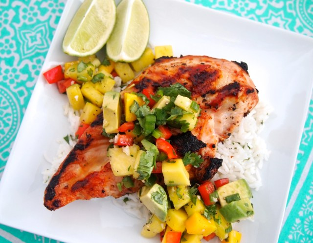 Grilled Chicken with Pineapple Salsa • The Live Fit Girls