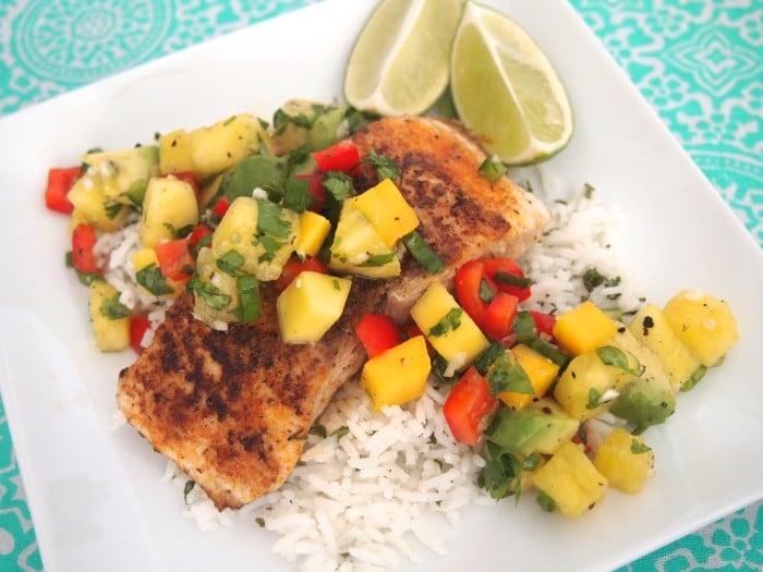 Blackened mahi mahi with pineapple salsa for Mahi mahi fish recipe