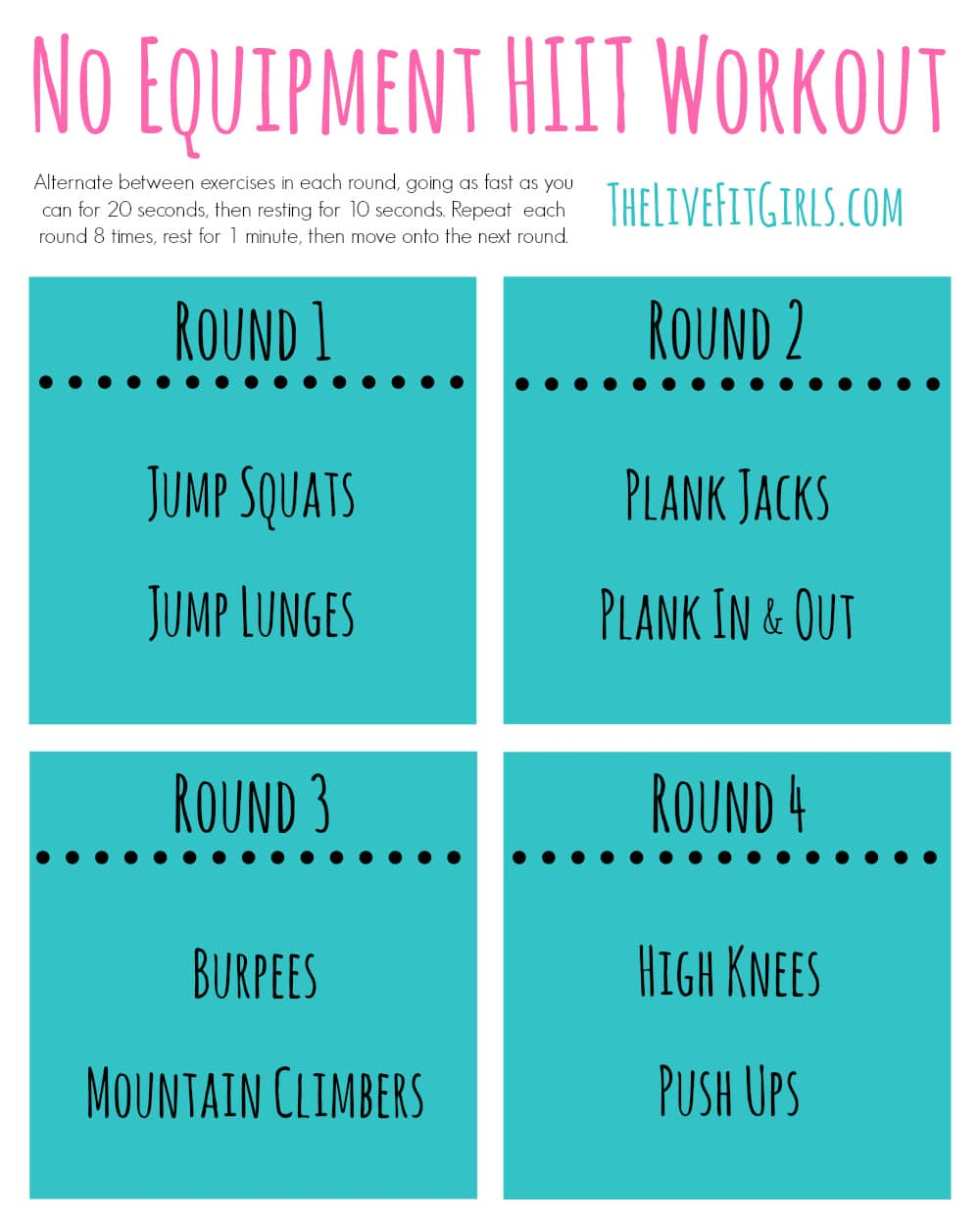 picture about Printable Hiit Workouts identify No Applications HIIT Exercise routine - The Overall body Office - Writer