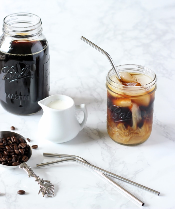 Easy Cold Brew Iced Coffee •