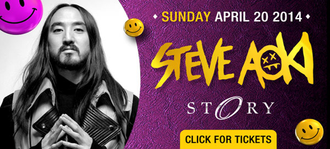 Steve Aoki at STORY Miami Sunday April 20th header