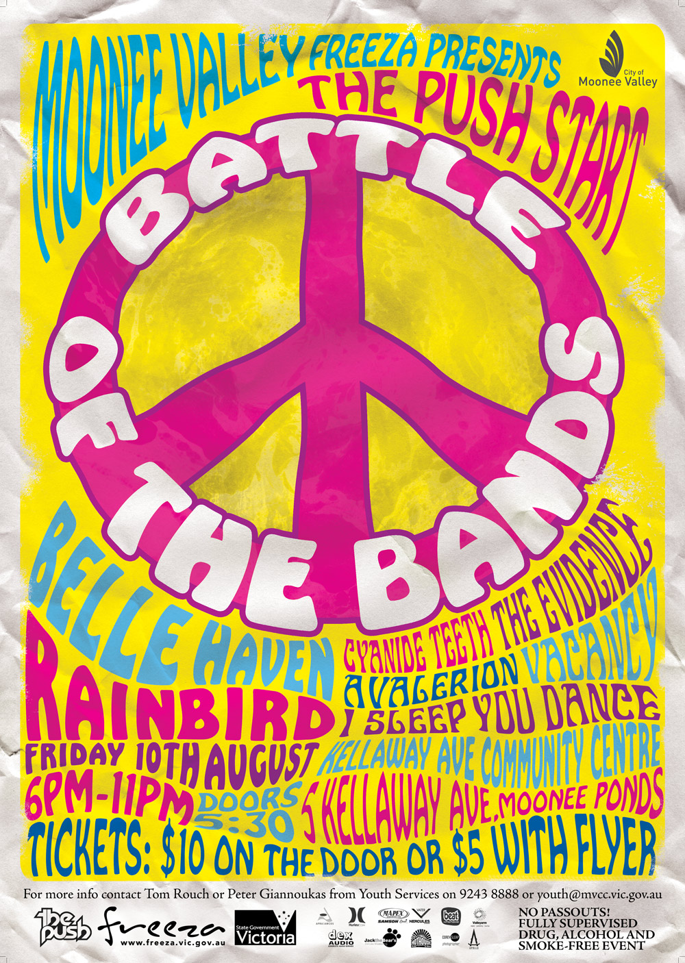 The main a3 battle of the bands poster design
