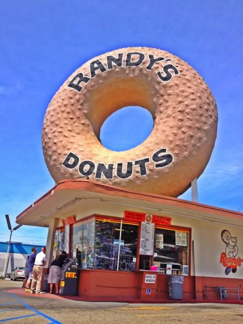 Randy's Donuts, the most famous of the GIANT donuts in town. (Photo by Nikki Kreuzer)