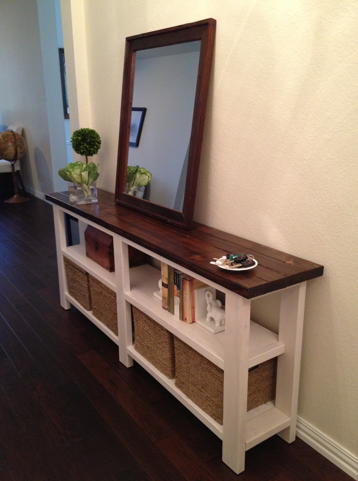 Console Table Rustic Chic Console Table Thelotteryhouse