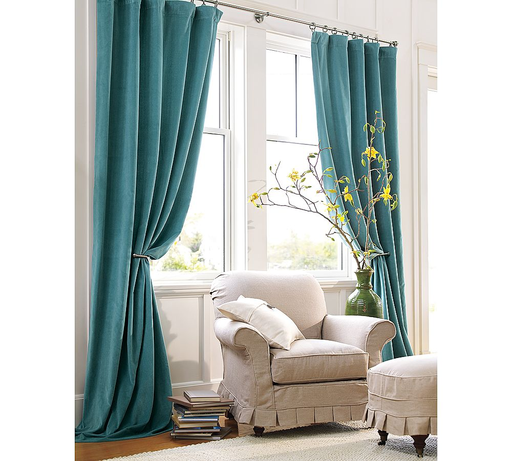 Pottery barn silk curtains - Download