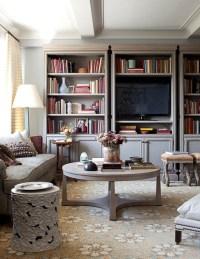 Inspiration: TV Bookshelf/Built In | The Lovely Lifestyle