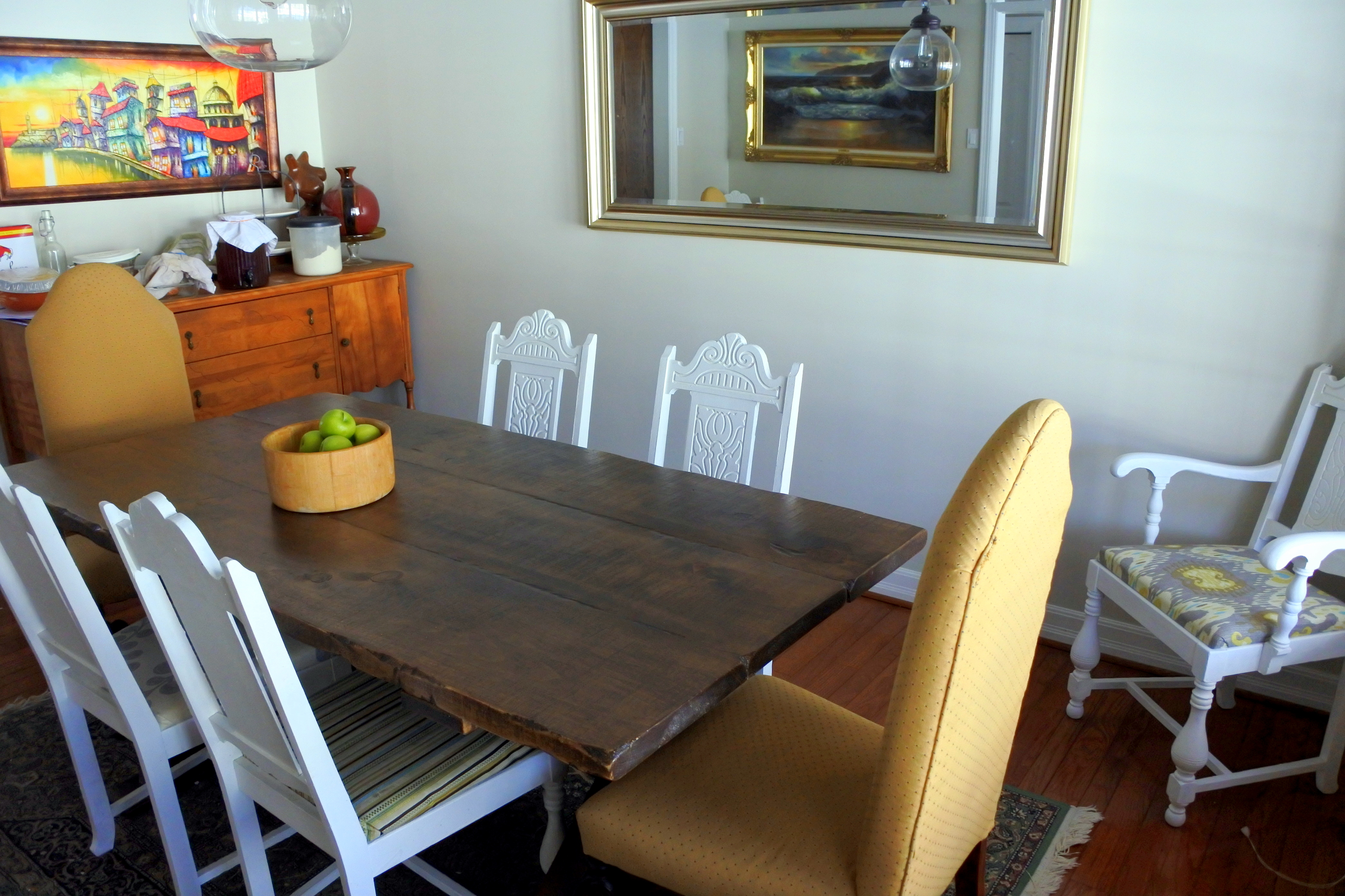 Second Hand Wood Sala Set My Second Hand Dining Room And Chair Makeover