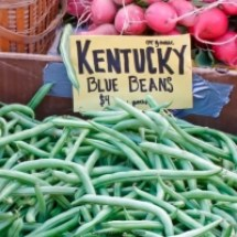 thumbs kentuchy blue beans University Farmers Market Early Fall 2011