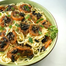 Linguine with Balsamic Roasted Heirloom Tomatoes