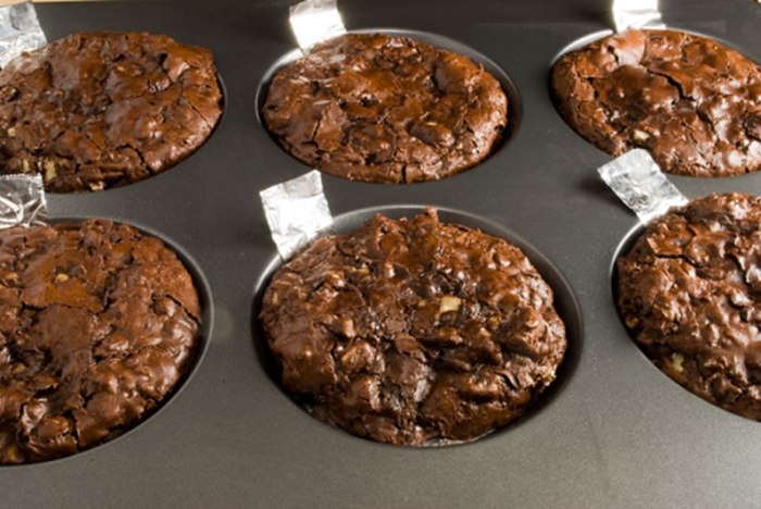 Bittersweet Chocolate and Toasted Walnut Cookies Baked in a Muffin Top Pan