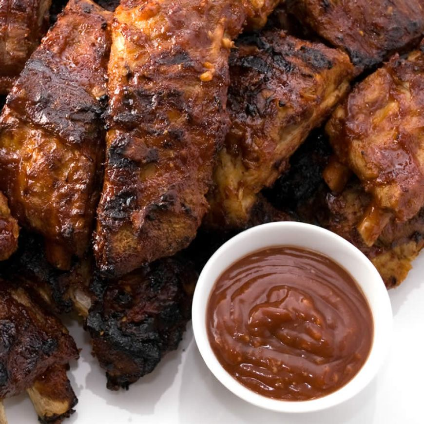 Grilled Baby Back Ribs With Garlic-Ginger BBQ Glaze| LunaCafe