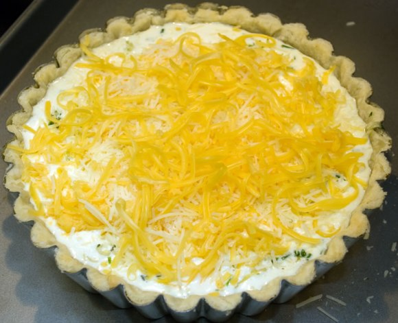 4 Ready to bake Baby Leek, Cheddar & Rosemary Tart