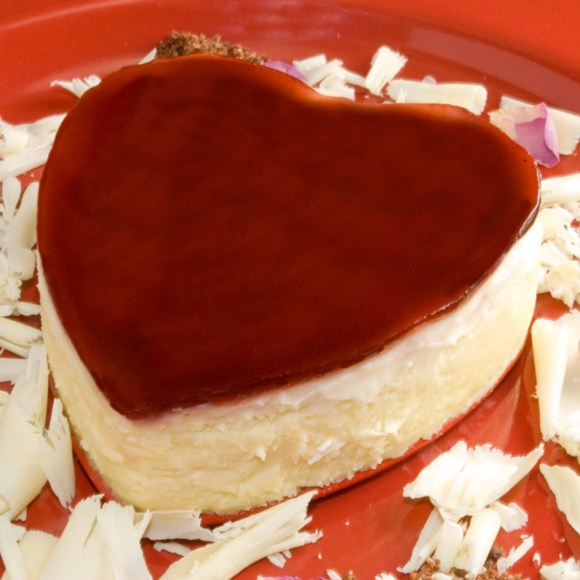 Heart Cheese Cake Lead Luscious White Chocolate and Raspberry Rose Petal Cheesecake