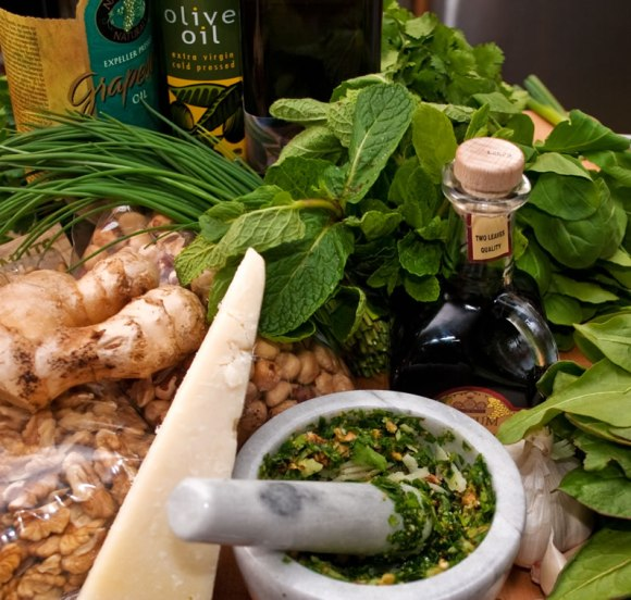 Pesto ingredients The Wonderful World of Fresh Pesto
