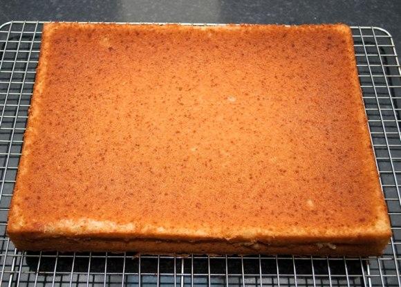 Freshly baked cake Metrovino's Parmesan Pound Cake