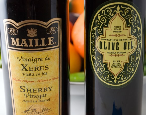 Sherry Vinegar and Extra Virgin Olive Oil