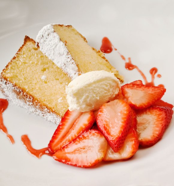 Square Slice Heavenly Parmesan Sour Cream Pound Cake