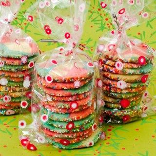 Peppermint Lime Kaleidoscope Cookies