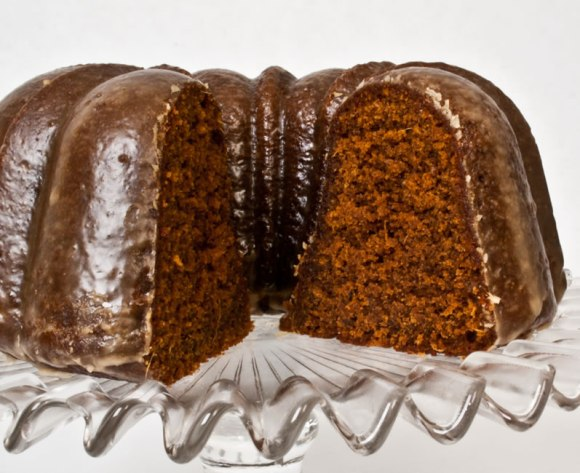 Cake Deep, Dark, Spicy Gingerbread with Coffee Glaze
