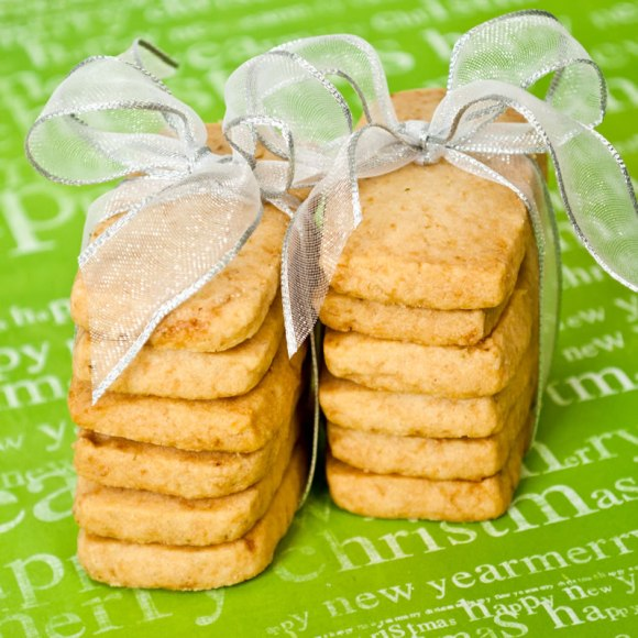 Coconut Vanilla Lime Shortbread