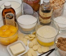 Mise en Place for Toasted Coconut White Chocolate Dream Pie