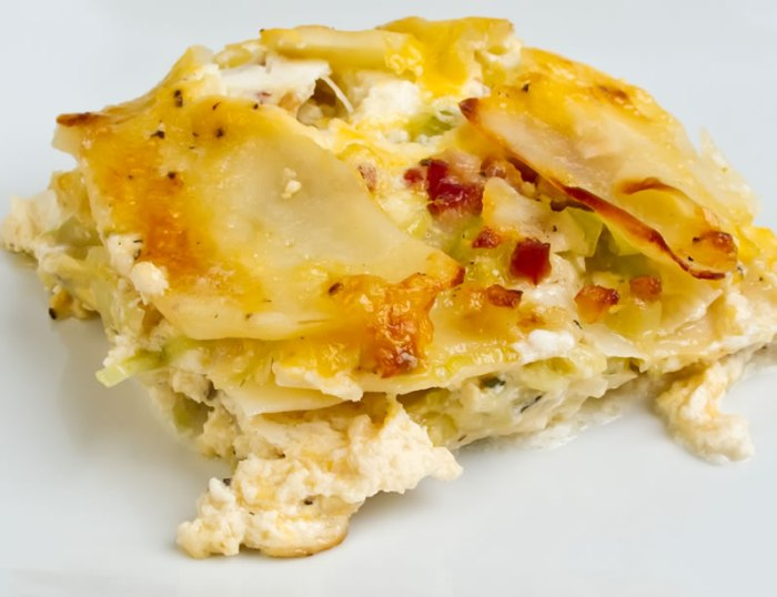 Potato Gratin with Ricotta, Pancetta & Melted Leeks | LunaCafe