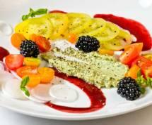 Summer Tomato, Sweet Onion & Blackberry Salad with Basil Mint Crema