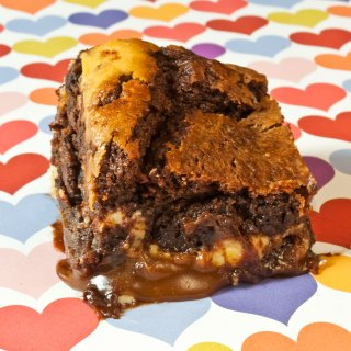 Burnt Caramel & Lemon Chevre Brownies
