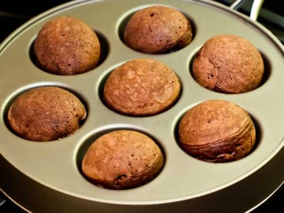 Mexicano Chocolate Ebelskivers Fully Turned Mexicano Chocolate Ebelskivers (Aebleskivers)