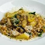 Farro, Wild Mushroom, Fingerling Potato & Kale Risotto (Farrotto)