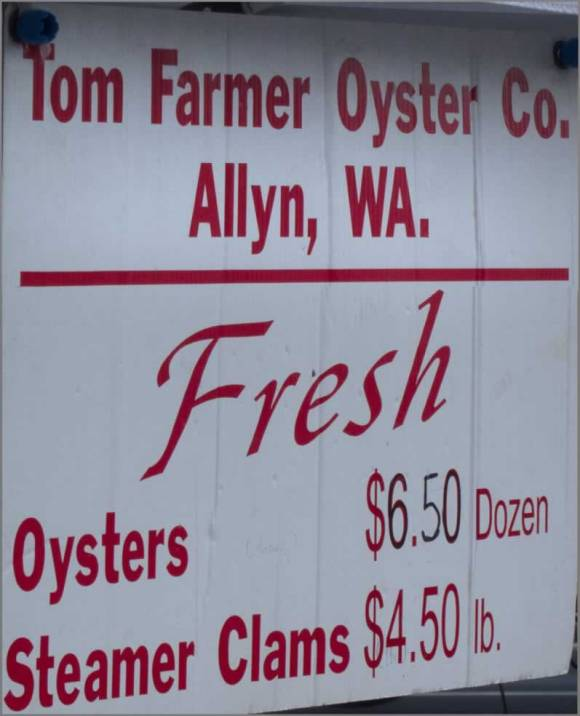 Tom Farmer Oyster Company at Port Orchard Farmers Market Hood Canal Manila Clams with Spicy Orange Cilantro Butter