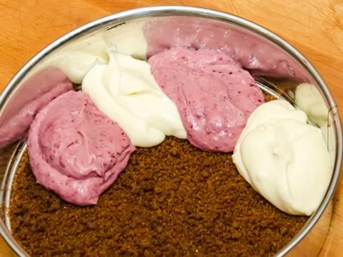 Luscious White Chocolate and Raspberry Rose Petal Cheesecake