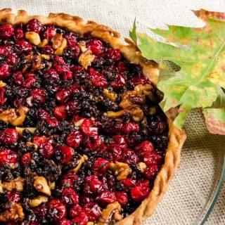 Decidedly Different Cranberry, Walnut & Currant Tart