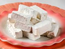 Homemade Marshmallows on Serving Plate