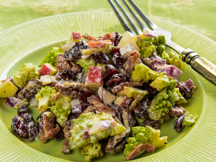 Romanesco, Applewood-Smoked Bacon, Cranberry & Pecan Salad