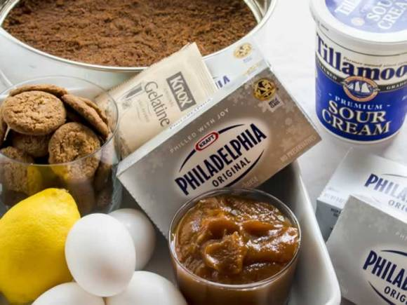 Ingredients Dreamy, Creamy, No Bake Pumpkin Butter Cheesecake