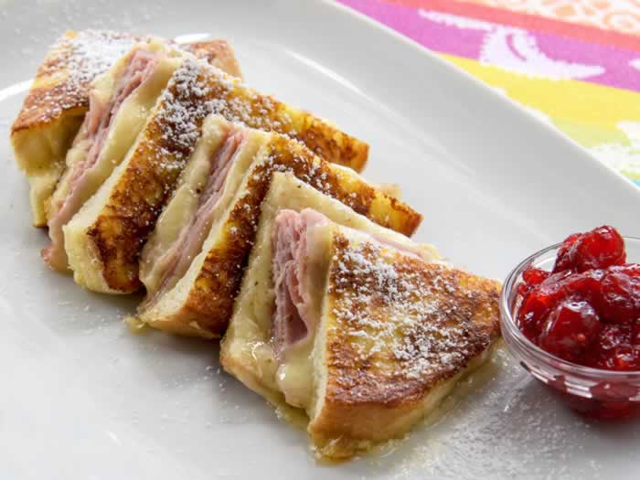 Monte Cristo Sandwich with Cranberry Sauce