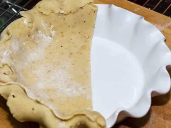 Pumpkin Pie Crust Half Fold