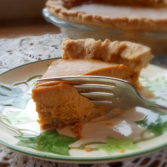 Triple Ginger Pumpkin Pie by Renée Butcher of What's for Dinner Mama