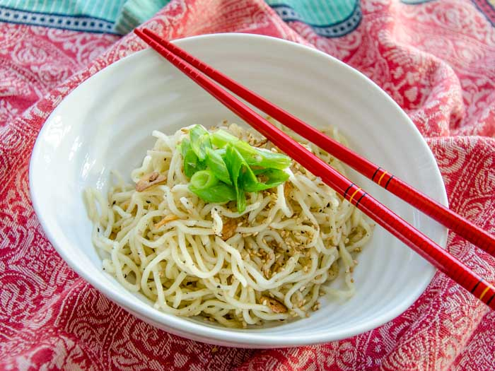Golden Fried Garlic Sesame Noodles