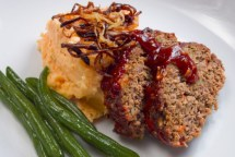 LunaCafe&#039;s Smokey Chipotle Meatloaf Shown with Potato Yam Mashers