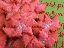 Butter Almond Poinsettia cookies