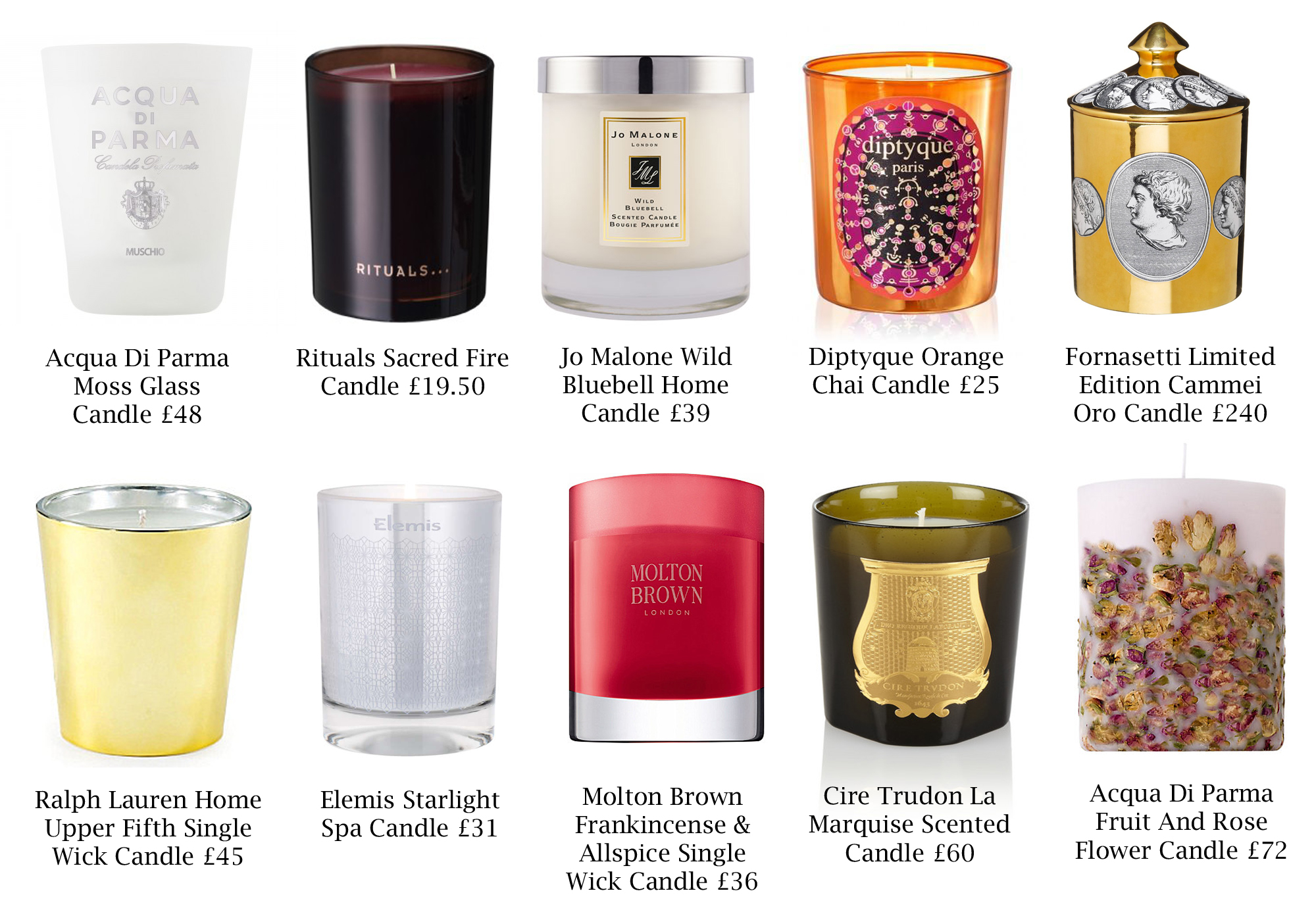 Most Fragrant Candles Top 10 Christmas Candles The Luxe Beauty Blog